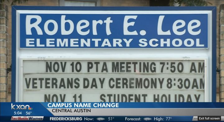 Locals are voting on whatthey'd like a Texas elementary school named after Confederate General Robert E. Lee to be&nbsp