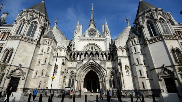 The Royal Courts of Justice, where today's hearing over the woman's anonymity was