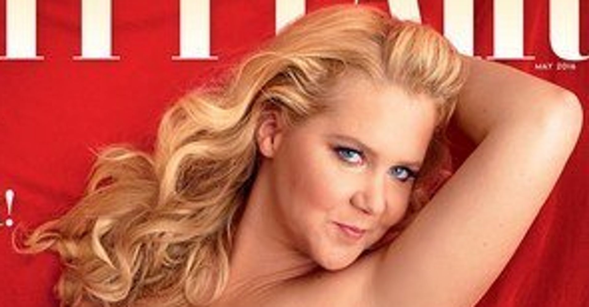 Amy schumer is a red hot pinup on the cover of vanity fair for Amy schumer tattoo