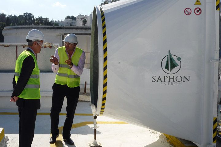The Saphonian is a highly efficient, bladeless wind turbine.