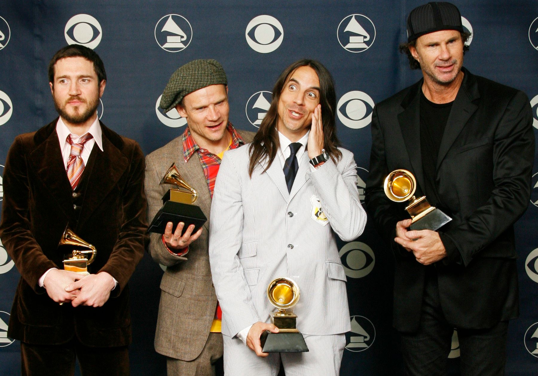 The Red Hot Chili Peppers won Grammys for best rock song, best rock album and best rock performance in 2007.