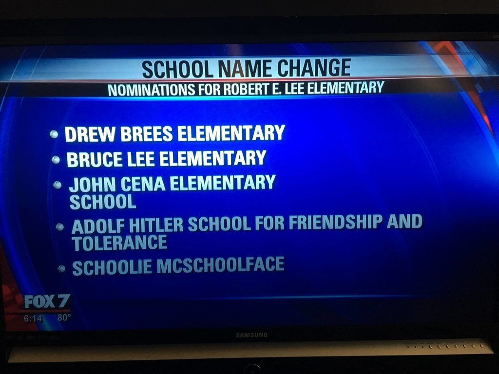 School Named After Confederate General May Be Renamed Schooly McSchoolerson After Public