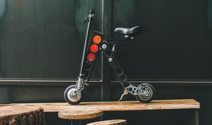 URB-E, an electrical scooter that says more than it realizes about the future of transportation.