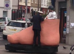 Man Driving Giant Foot Leaves London Very, Very Confused
