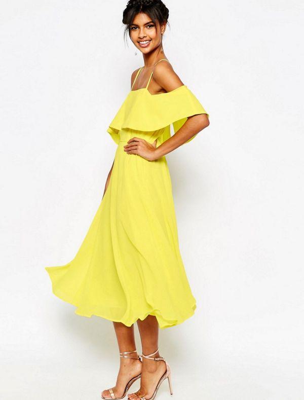 K michelle yellow dress 04