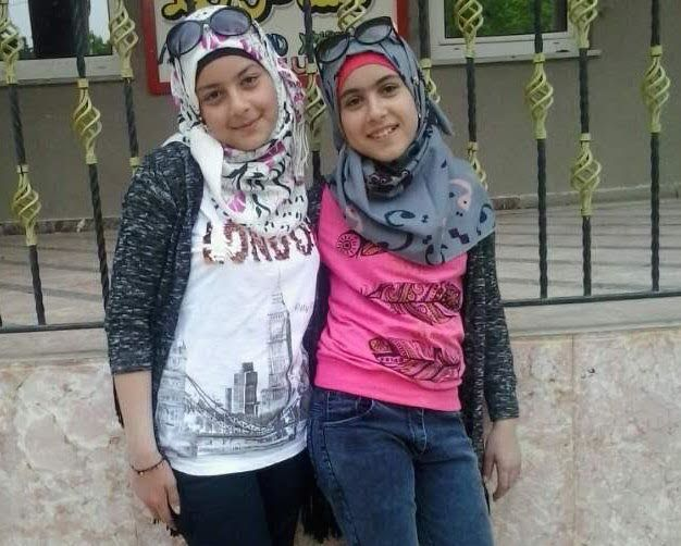 Tesnim, 12, and Yasmin, 13, were killed when a rocket fired from Islamic State-controlled Syria landed...