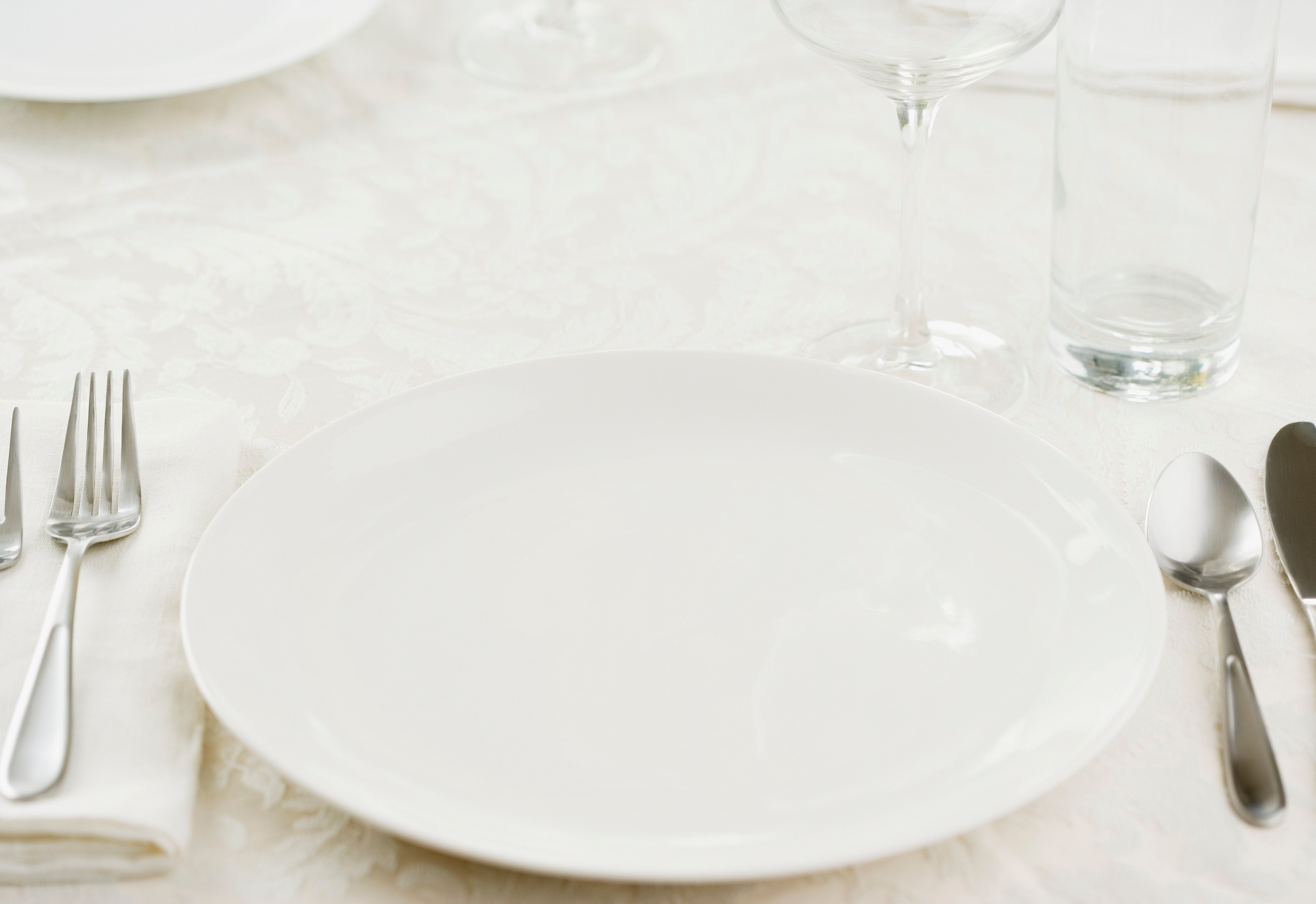 Close-up of a table setting