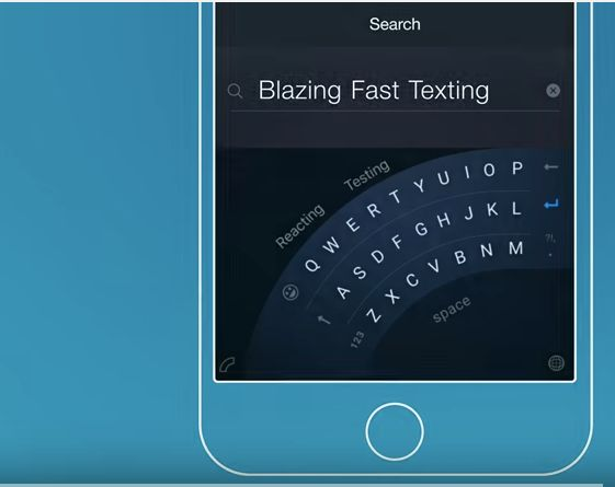 Microsoft's Word Flow app has a curved keyboard to accommodate one-handed typing.