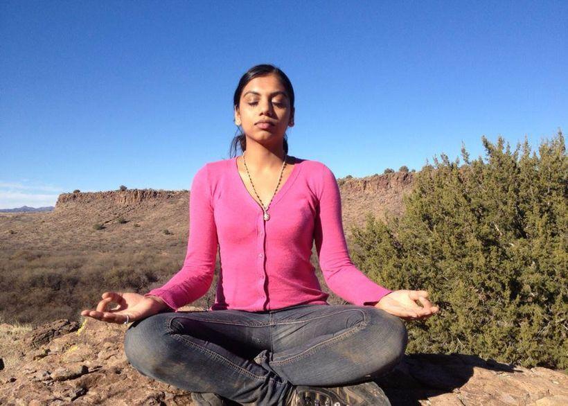 Supriya Venkatesan, Meditating