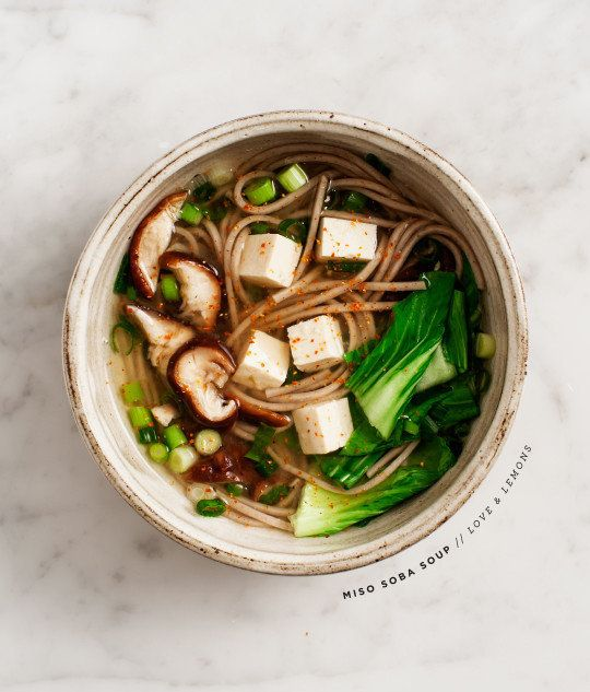 "Get the <a href=""http://www.loveandlemons.com/miso-soba-soup/"" target=""_blank"">Miso Shiitake Soba Soup recipe</a> on Love &am"