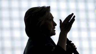 U.S. Democratic presidential candidate Hillary Clinton speaks at a campaign rally in Bridgeport, Connecticut, U.S., April 24, 2016. REUTERS/Mike Segar