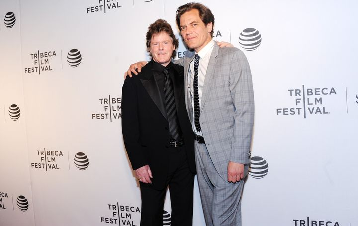 "Jerry Schilling and Michael Shannon attend Tribeca's ""Elvis & Nixon"" premiere on April 18."