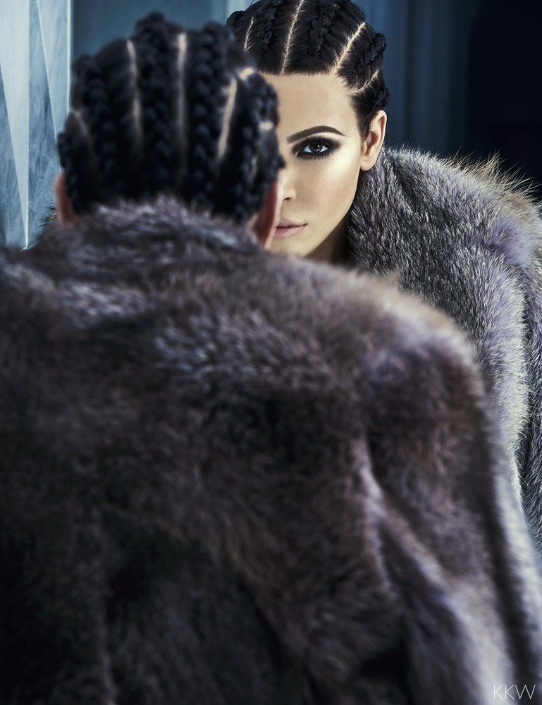 Kim Kardashian in her latest photo shoot by Chris Colls; makeup done by Pat McGrath.