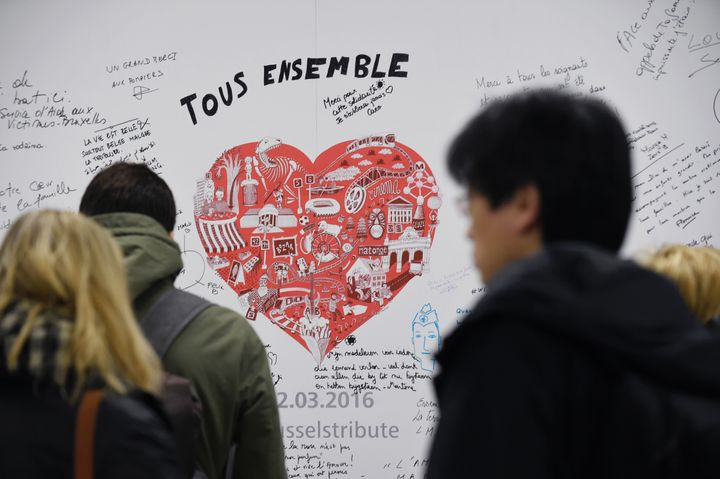 Brussels' Maelbeek metro station reopened on Monday, a little more thana month after a deadly terroristattack hit