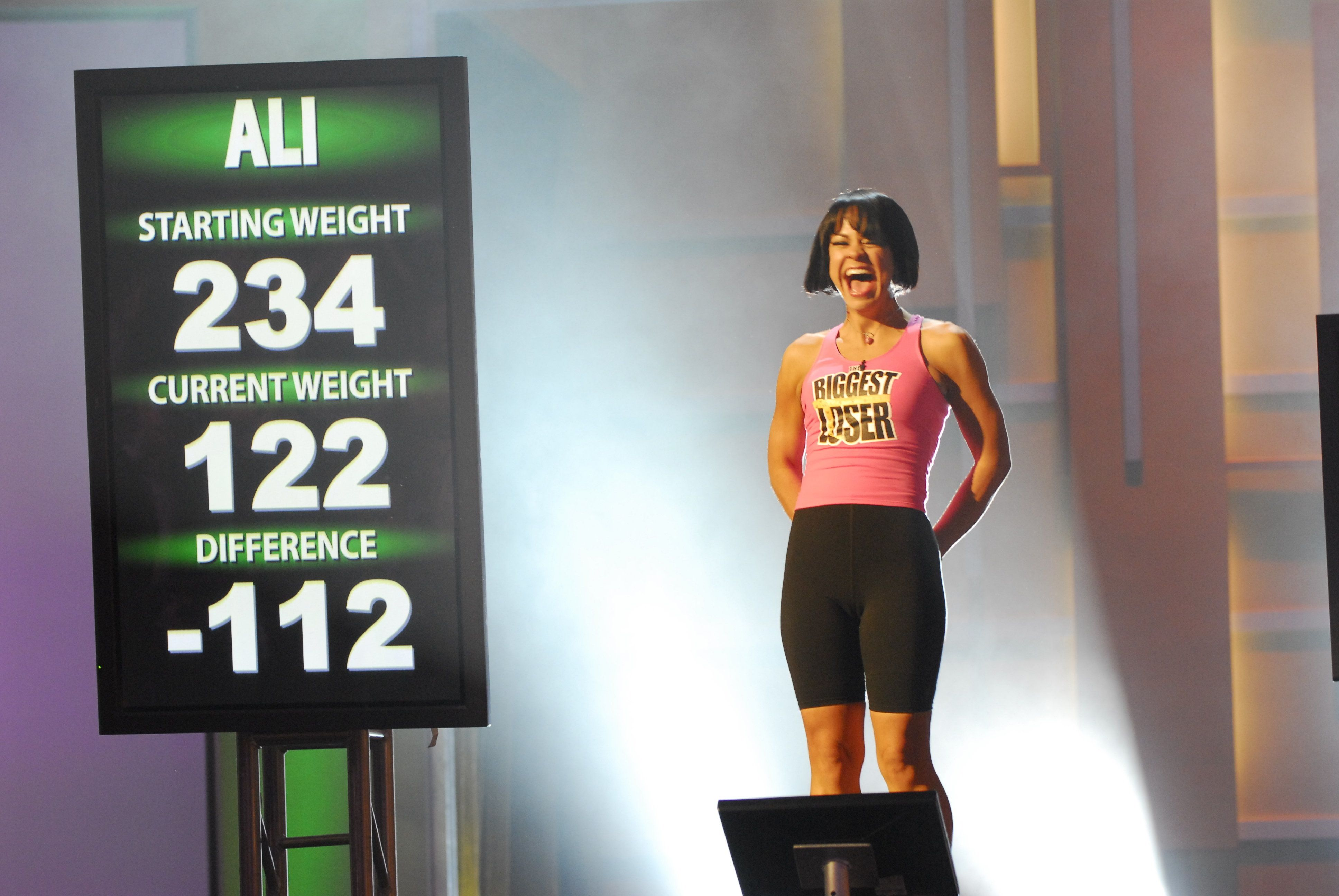 "THE BIGGEST LOSER -- ""Season 5 Live Finale"" Episode 516 -- Pictured: Season 5 Winner Ali Vincent -- (Photo by: Dave Bjerke/NBC/NBCU Photo Bank via Getty Images)"