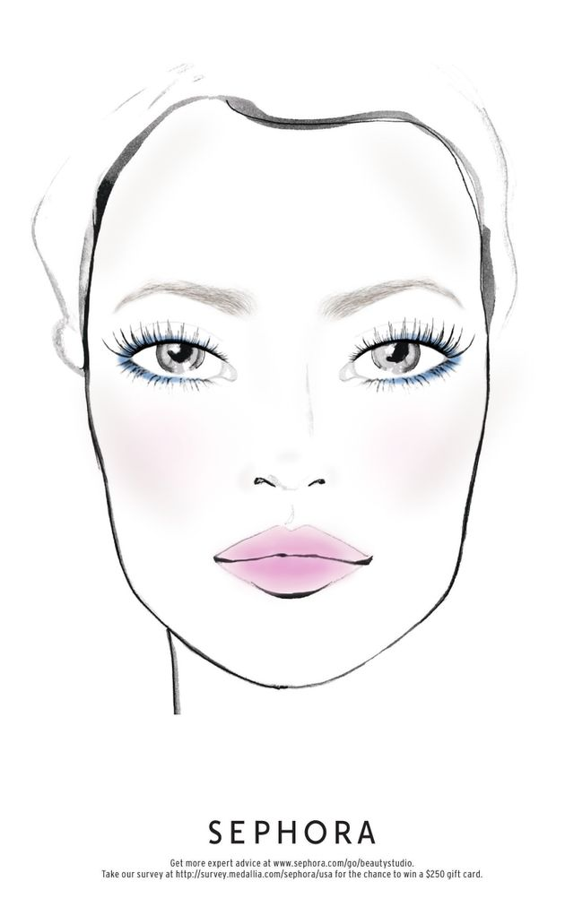 Don't be afraid to experiment with richer shadows during the warmer months like this deep blue eyeliner...