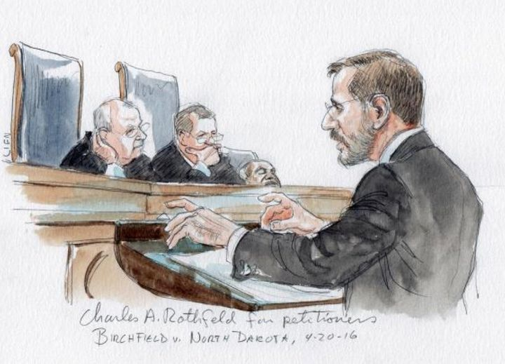 A courtroom sketch appears to showSupreme Court Associate Justice Clarence Thomasfalling asleep, but the artist s