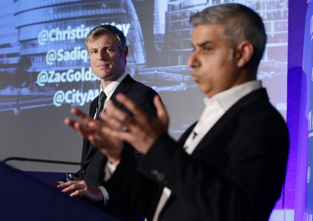 Zac Goldsmith, left, and Sadiq Khan, right, are the frontrunners in the London mayoral