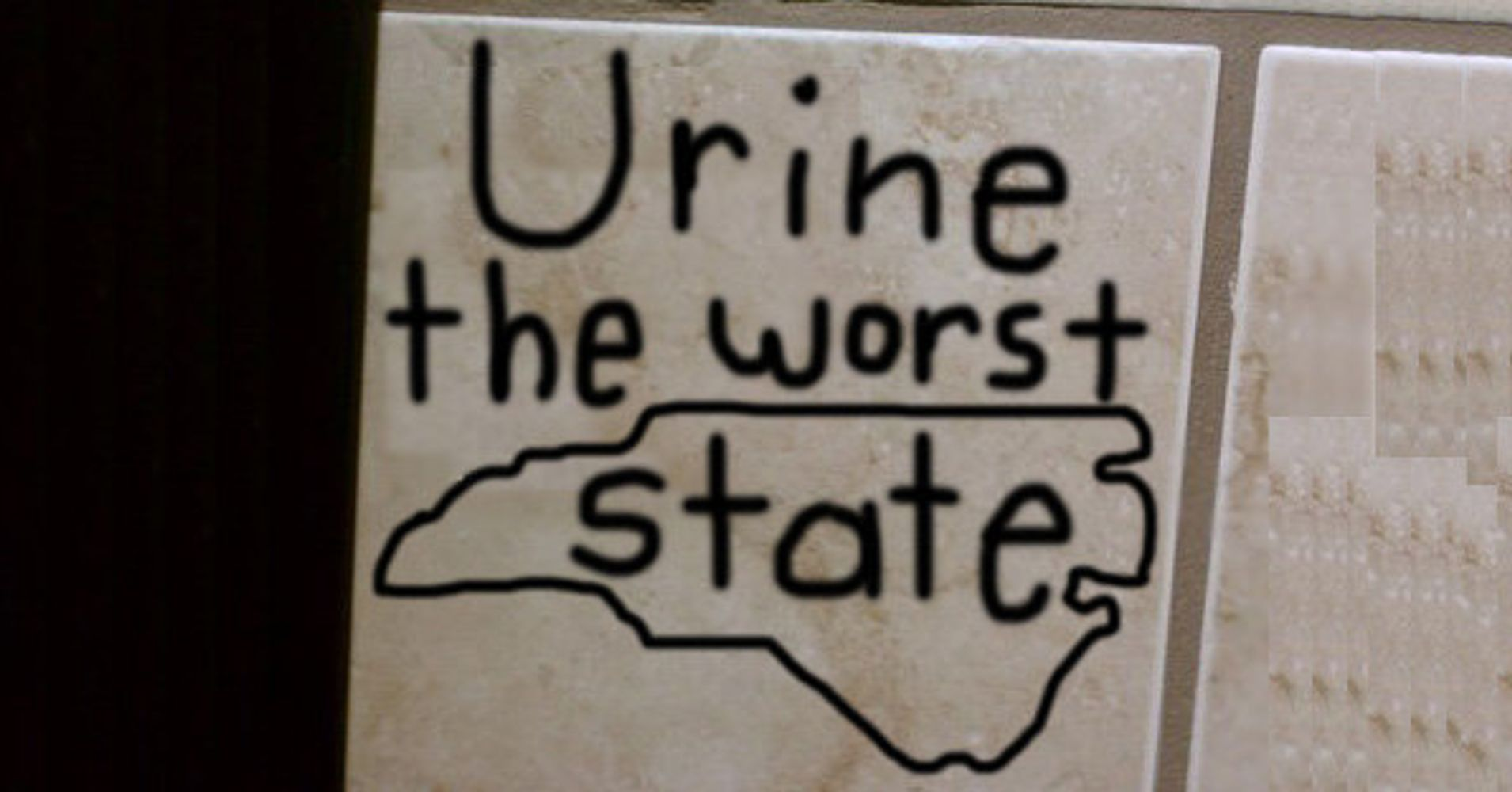 Protest North Carolina S 39 Bathroom Bill 39 With Bathroom Graffiti Huffpost