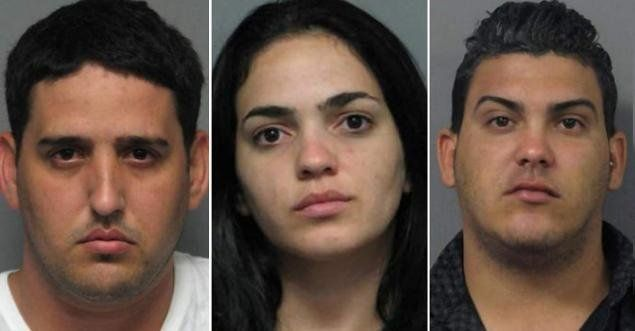 Luis Rivera-Garcia, 26, Juliet Estrada-Perez, 23, and Enrique Gonzalez-Torres, 23, face federal credit card fraud charges in
