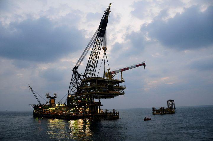An Saudi Aramco offshore platform.