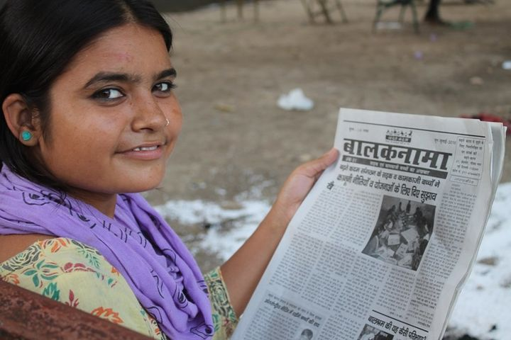 Chandni, the 18-year-old editor of the Balaknama newspaper run by street children.
