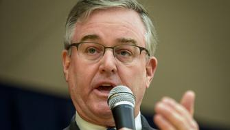 TAKOMA PARK, MD - MARCH 12: David Trone makes remarks during a forum with candidates for Maryland's 8th congressional district, on March, 12, 2016 in Takoma Park, MD. (Photo by Bill O'Leary/The Washington Post via Getty Images)