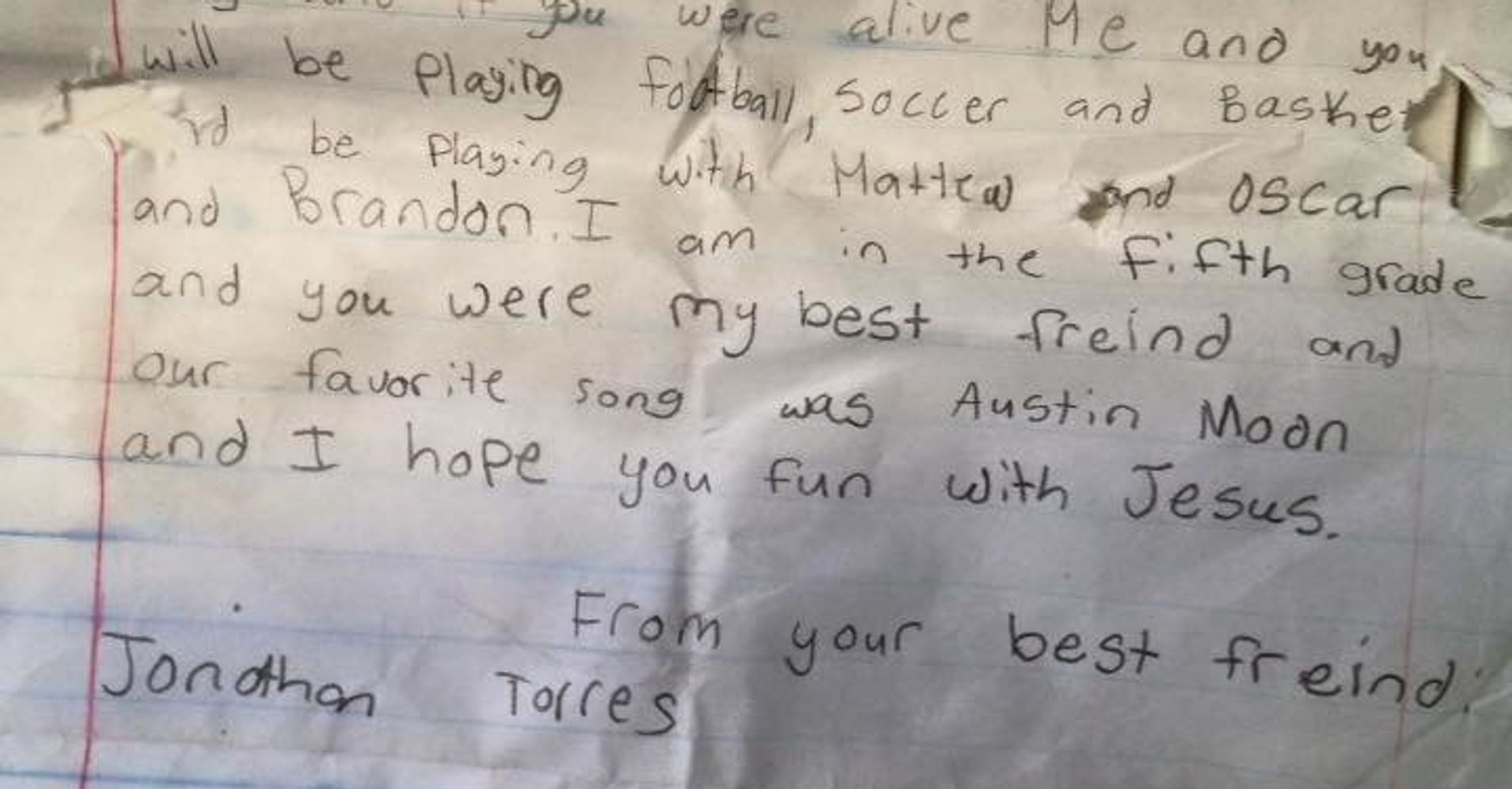 Emotional Message In A Bottle From A Boy To His Best Friend Washes