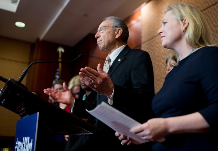 Sens. Kirsten Gillibrand (D-N.Y.) said Chuck Grassley (R-Iowa) spoke Tuesday in favor of the Campus Accountability