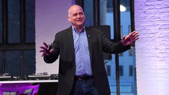 NEW YORK, NEW YORK - MARCH 31:  Journalist Ron Fournier speaks on stage at the Klick Health MUSE NYC on March 31, 2016 in New York City.  (Photo by Nicholas Hunt/Getty Images for Klick, Inc.)