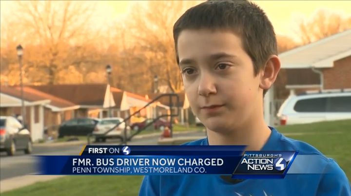 Tyler Cunningham, 11, suffered a minor burn after his school bus driver asked for someone to move a live wire off the vehicle