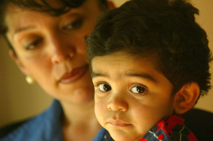 Marisol Quintero with son John Paul, age 18 months. When John Paul was diagnosed with anemia, his mother had to tak