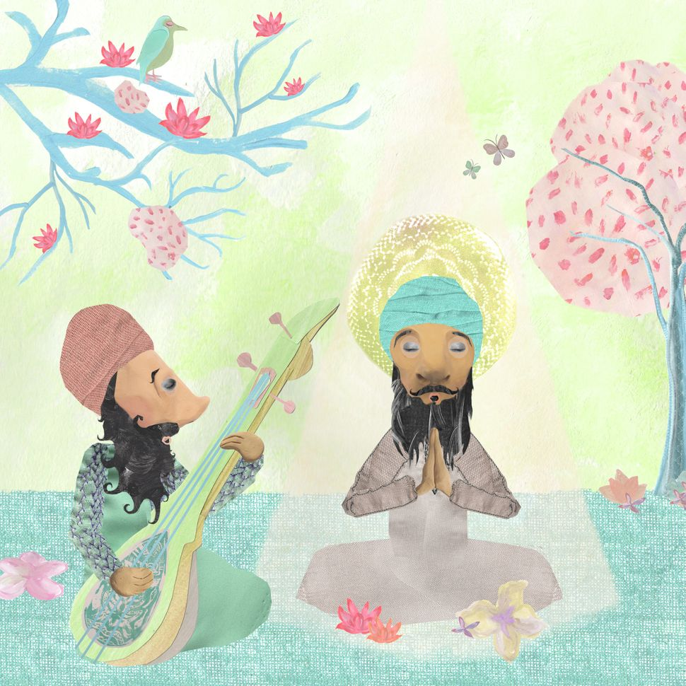 "Kaur's series ""The Guru"" explores her relationship to the divine. The Sikh faith honors ten gurus who founded the religi"