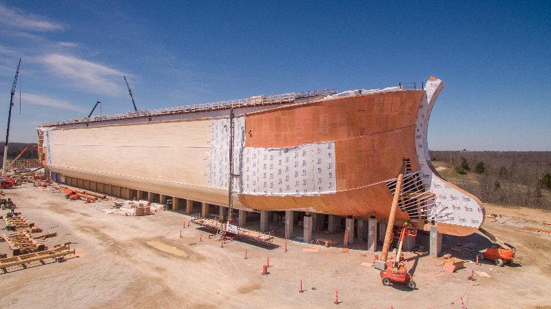 A replica of Noah's Ark being built in Kentucky.