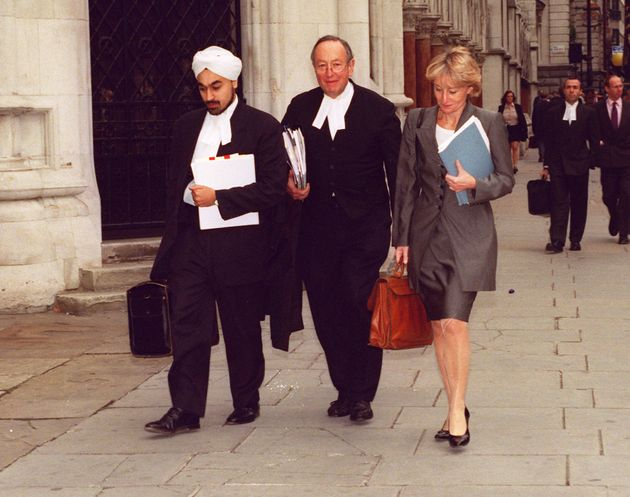 Left to right: Pushbinder Saini, Lord Lester and Gai Teltowin 1997, when they represented...