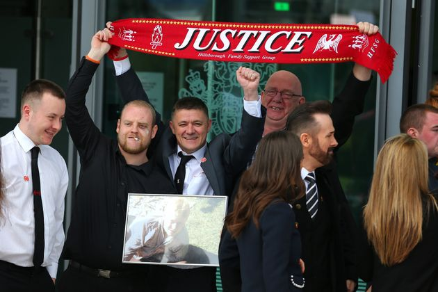 Families of the victims celebrated achieving justice after yesterday's inquest exonerated