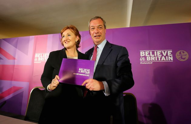 Nigel Farage and Suzanne Evans in happier