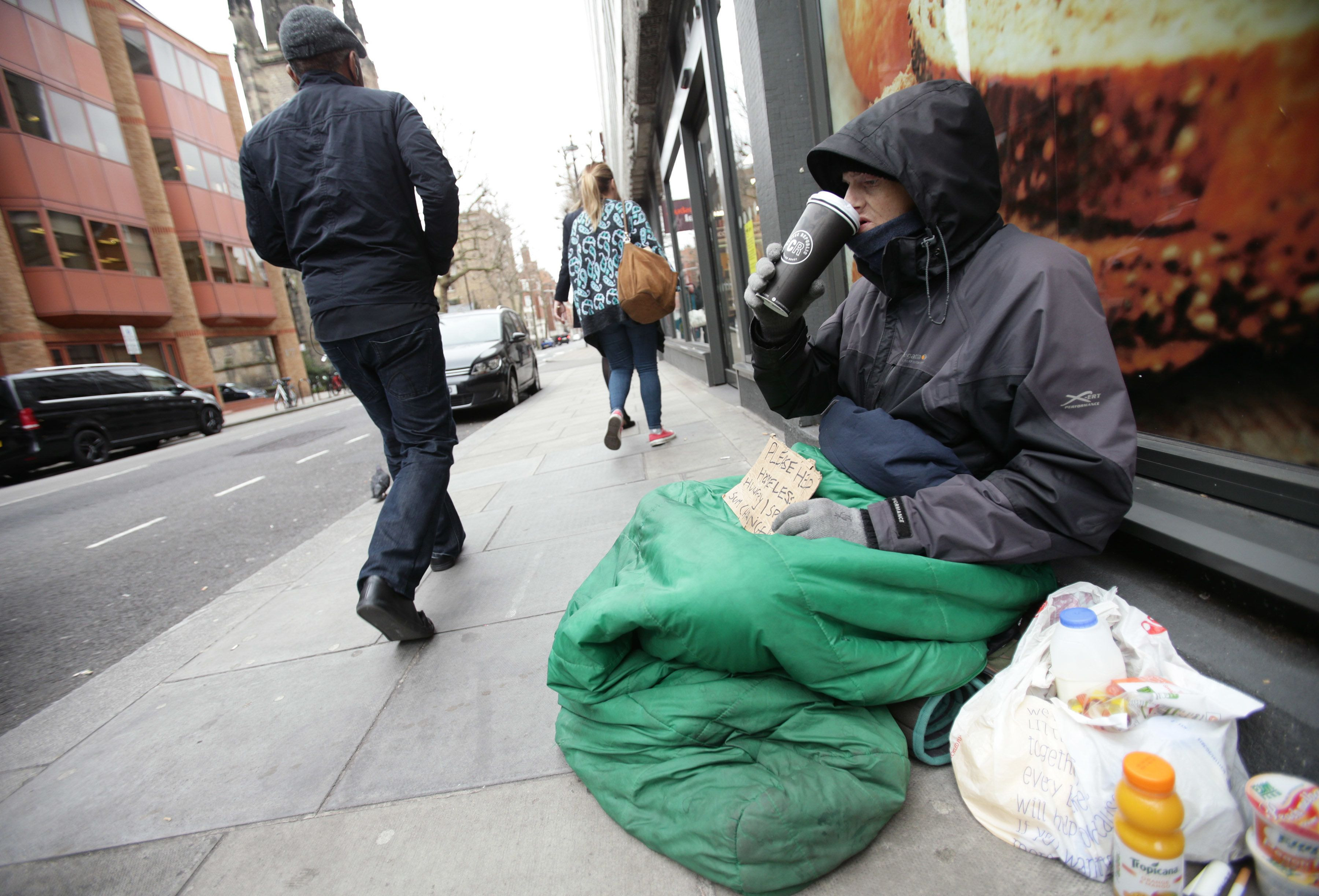 1.25 million people living in the UK were classed as being destitute last year, according to a new