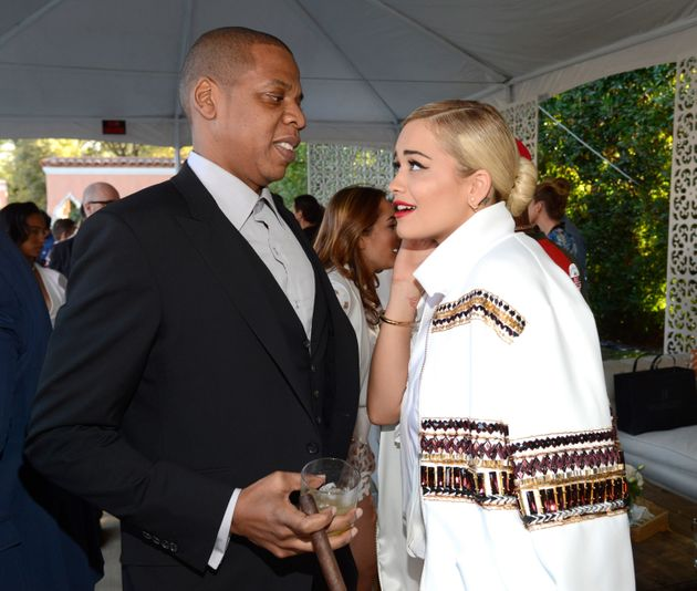 Jay and Rita at a pre-Grammys party in