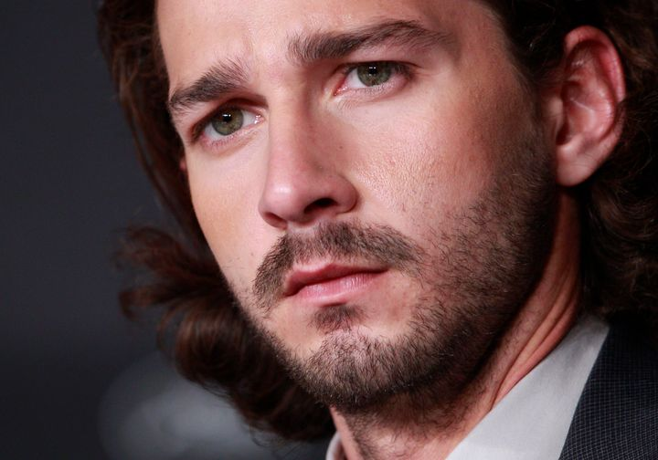 Actor Shia LaBeouf, pictured. A New York City man says he was sucker-punched by a stranger for looking likethe star.