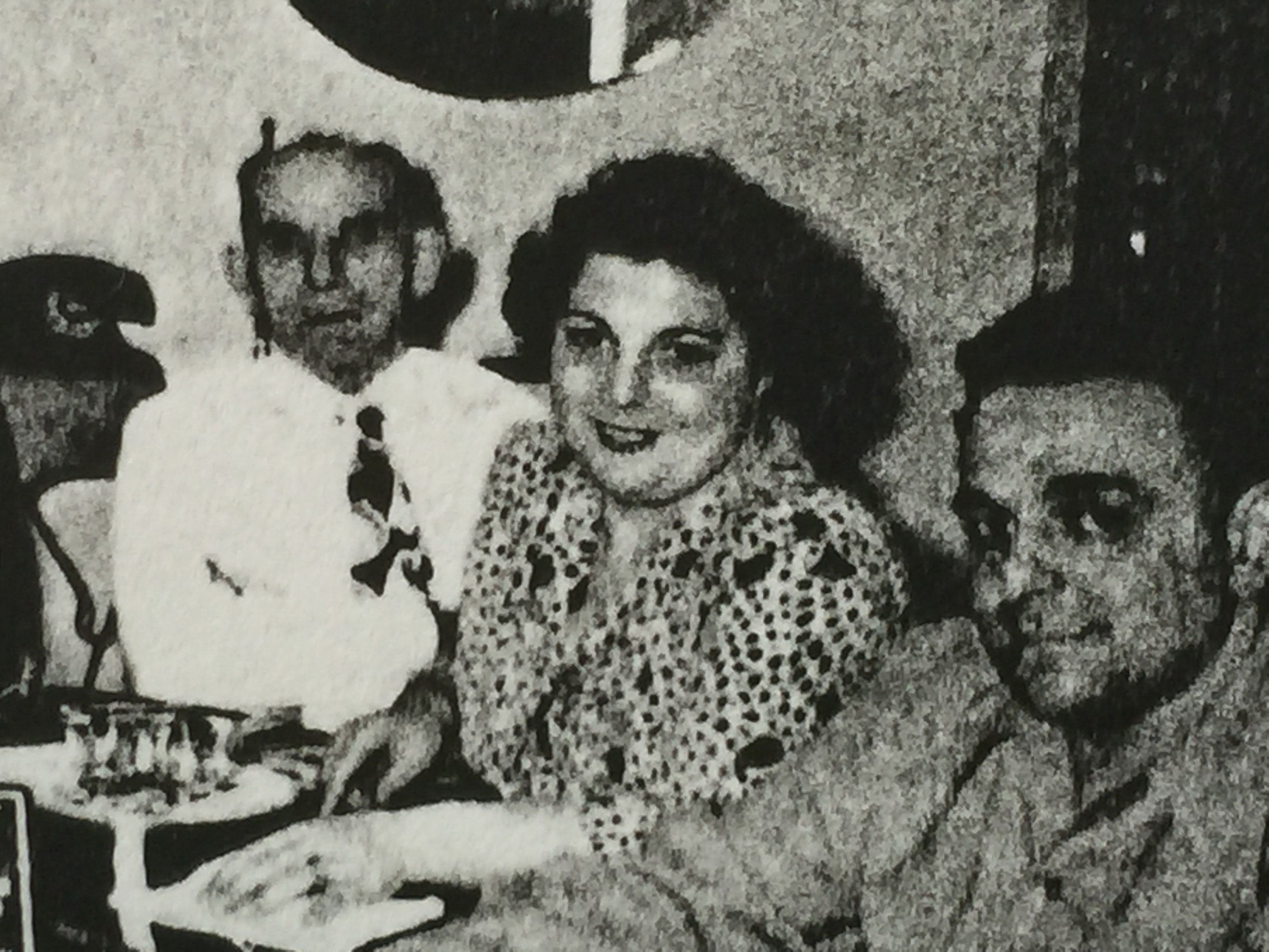 The author's Aunt Fay, center, with her husband Izzy far right, taken around 1950.