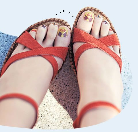 Yes, you can wear Chip and Dale characters on your big toes.