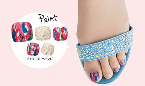 No need for teeny tiny nail art brushes for this watercolor paint pedicure design.