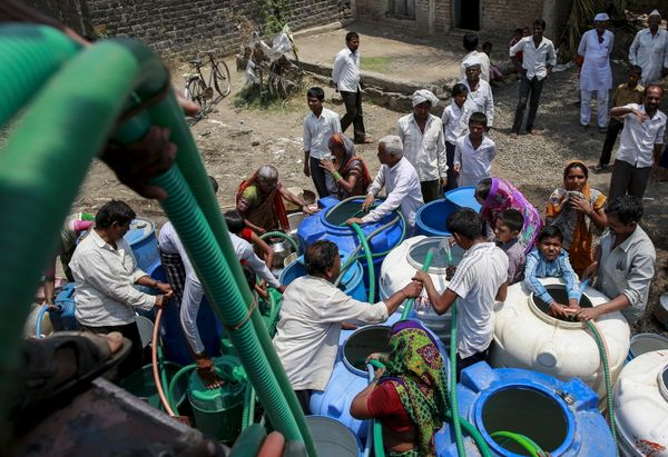 The government has sent water tankers to parts of India, including Masurdi village in Maharashtra state.
