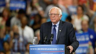 Democratic U.S. presidential candidate and U.S. Senator Bernie Sanders speaks during his five state primary night rally in Huntington, West Virginia, U.S., April 26, 2016.    REUTERS/Marcus Constantino
