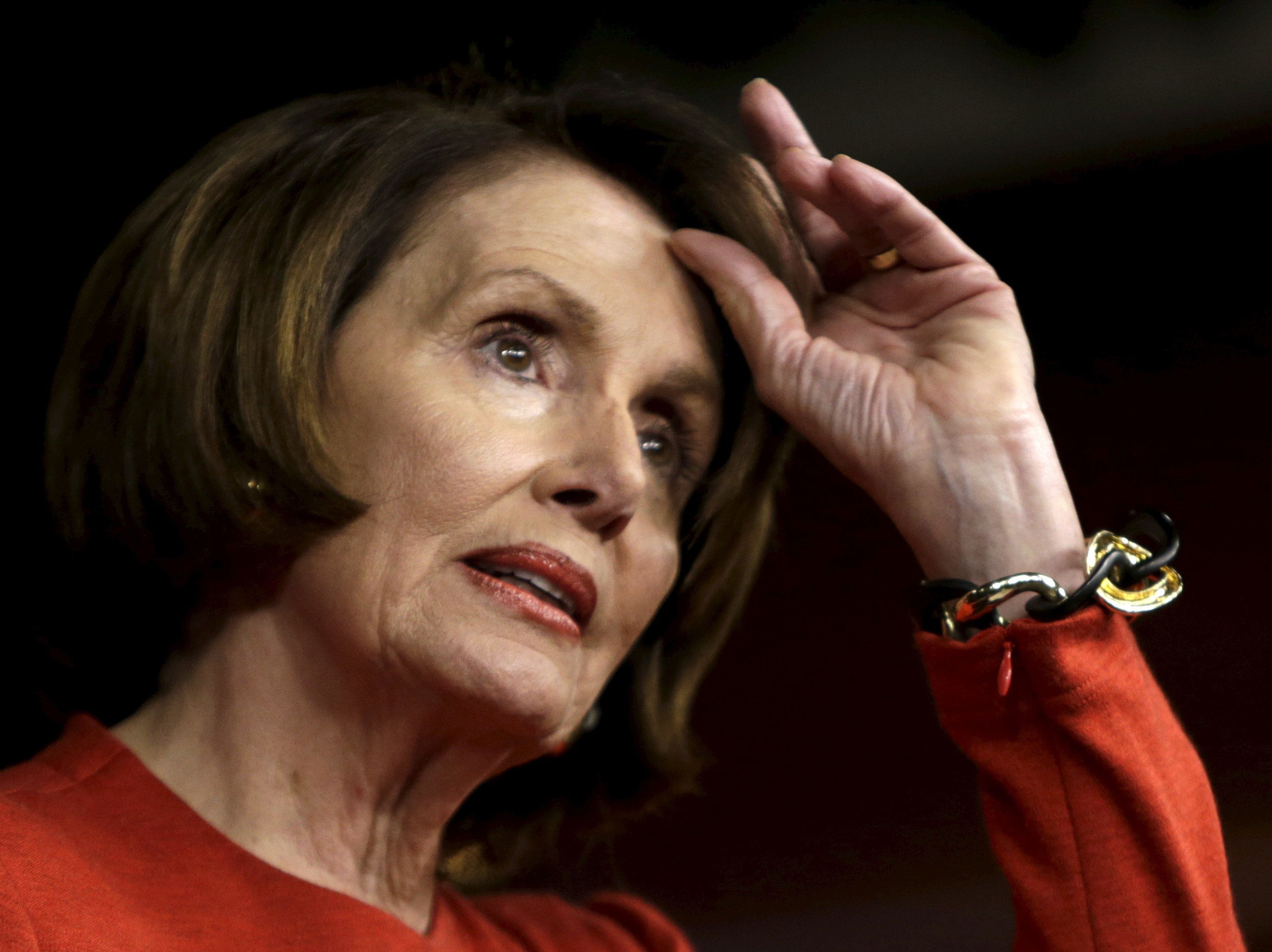House Minority Leader Nancy Pelosi (D-Calif.) is grappling with a lobbying campaign aimed at keeping drug prices high.