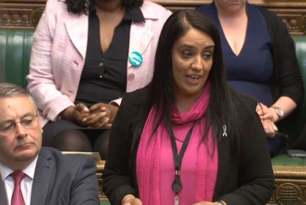 Labour MP Naz Shah as she tells the House of Commons in London that she