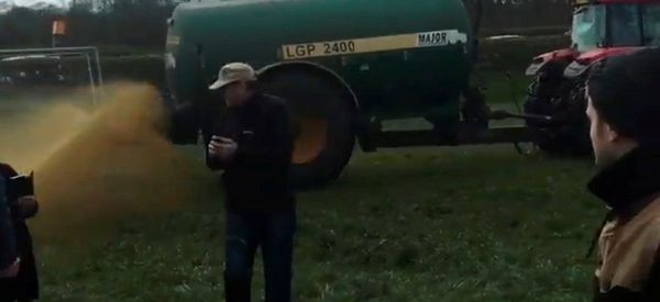 Angry Farmer Sprays Tanker Full Of Poo At Oscar-Winning Actress