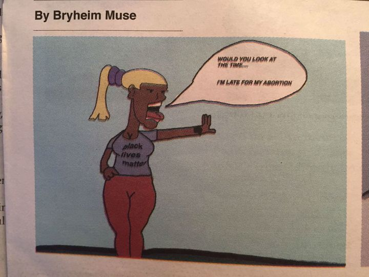 Bryheim Muse, a black student, created these images that some are calling racist and sexist.