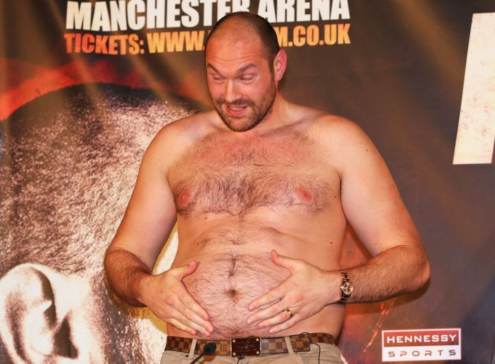 "Tyson Fury to Wladimir Klitschko: ""You let a fat man beat ya."""